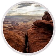 Green River View Round Beach Towel by Dustin  LeFevre