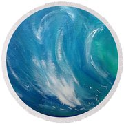 Green Room Round Beach Towel