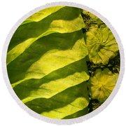 Green Silk 02 Round Beach Towel