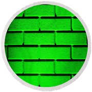 Green Wall Round Beach Towel