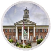 Greeneville Town Hall Round Beach Towel