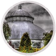 Greenhouse - The Observatory Round Beach Towel