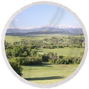 Greenland Ranch Round Beach Towel