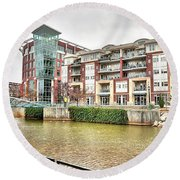 Greenville River Front Round Beach Towel