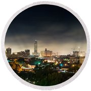 Greenway Plaza And The Galleria Round Beach Towel