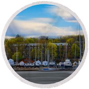 Greenwich Marina Round Beach Towel