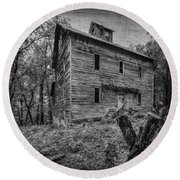 Greer Mill Black And White Round Beach Towel