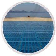 Greetings To The Sun Zadar Installation Round Beach Towel