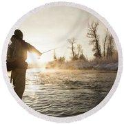 Greg Houska Fly Fishing On The Provo Round Beach Towel