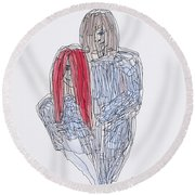 Greg Kristi Unfinished Round Beach Towel