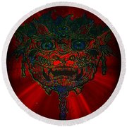 Gremlin In Dynamic Color Round Beach Towel