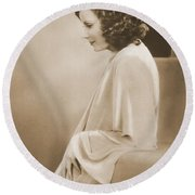 Greta Garbo Round Beach Towel