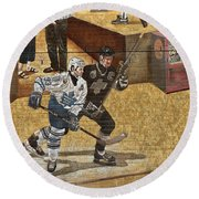 Gretzky And Gilmour 2 Round Beach Towel