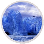 Grey Glacier Patagonia Chile Round Beach Towel
