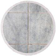 Grey Tiles Round Beach Towel