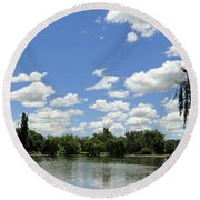Griffin Lake Round Beach Towel