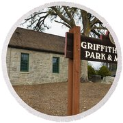 Griffith Quarry Park And Museum Penryn California Round Beach Towel