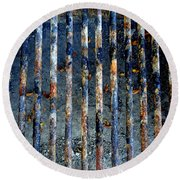Grill Abstract Round Beach Towel