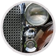 Grill And Headlight Round Beach Towel