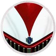 Grille And Logo Round Beach Towel
