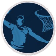Grizzlies Shadow Player1 Round Beach Towel