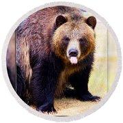 Grizzly Bear 2 Round Beach Towel