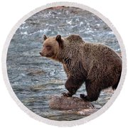 Grizzly River Round Beach Towel