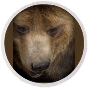 Grizzly Upclose Round Beach Towel