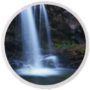 Grotto Falls Great Smoky Mountains Round Beach Towel