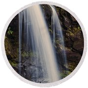 Grotto Falls Tennessee Round Beach Towel