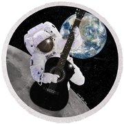 Ground Control To Major Tom Round Beach Towel