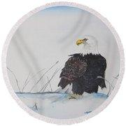 Ground Eagle Round Beach Towel