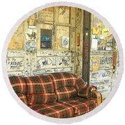Front Porch - Ground Zero Blues Club Clarksdale Ms Round Beach Towel