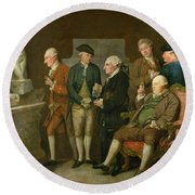 Group Of Connoisseurs Round Beach Towel