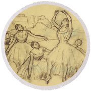 Group Of Dancers Round Beach Towel