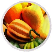 Group Of Gourds Round Beach Towel