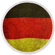Grunge German Flag Round Beach Towel
