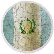 Grunge Guatemala Flag Round Beach Towel