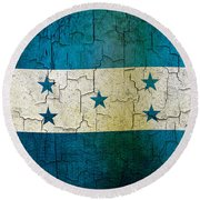 Grunge Honduras Flag Round Beach Towel