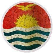 Grunge Kiribati Flag Round Beach Towel