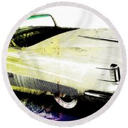 Grunge Retro Car Round Beach Towel