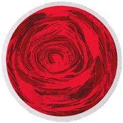 Grunge Rose Round Beach Towel