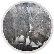 Grungy Concrete Wall Round Beach Towel