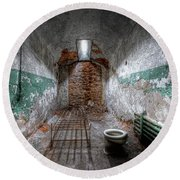Grungy Prison Cell Round Beach Towel