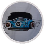 Gt40 Project Round Beach Towel