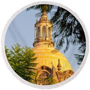 The Grand Cathedral Of Guadalajara, Mexico - By Travel Photographer David Perry Lawrence Round Beach Towel