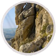 Guadalupe Peak Trail Round Beach Towel