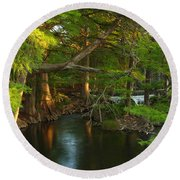 Guadalupe River 2am-115627 Round Beach Towel