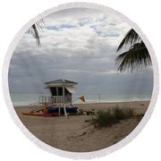 Guarded Area Round Beach Towel