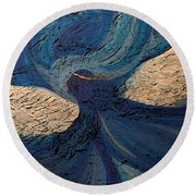 Guardian Angel By Jrr Round Beach Towel